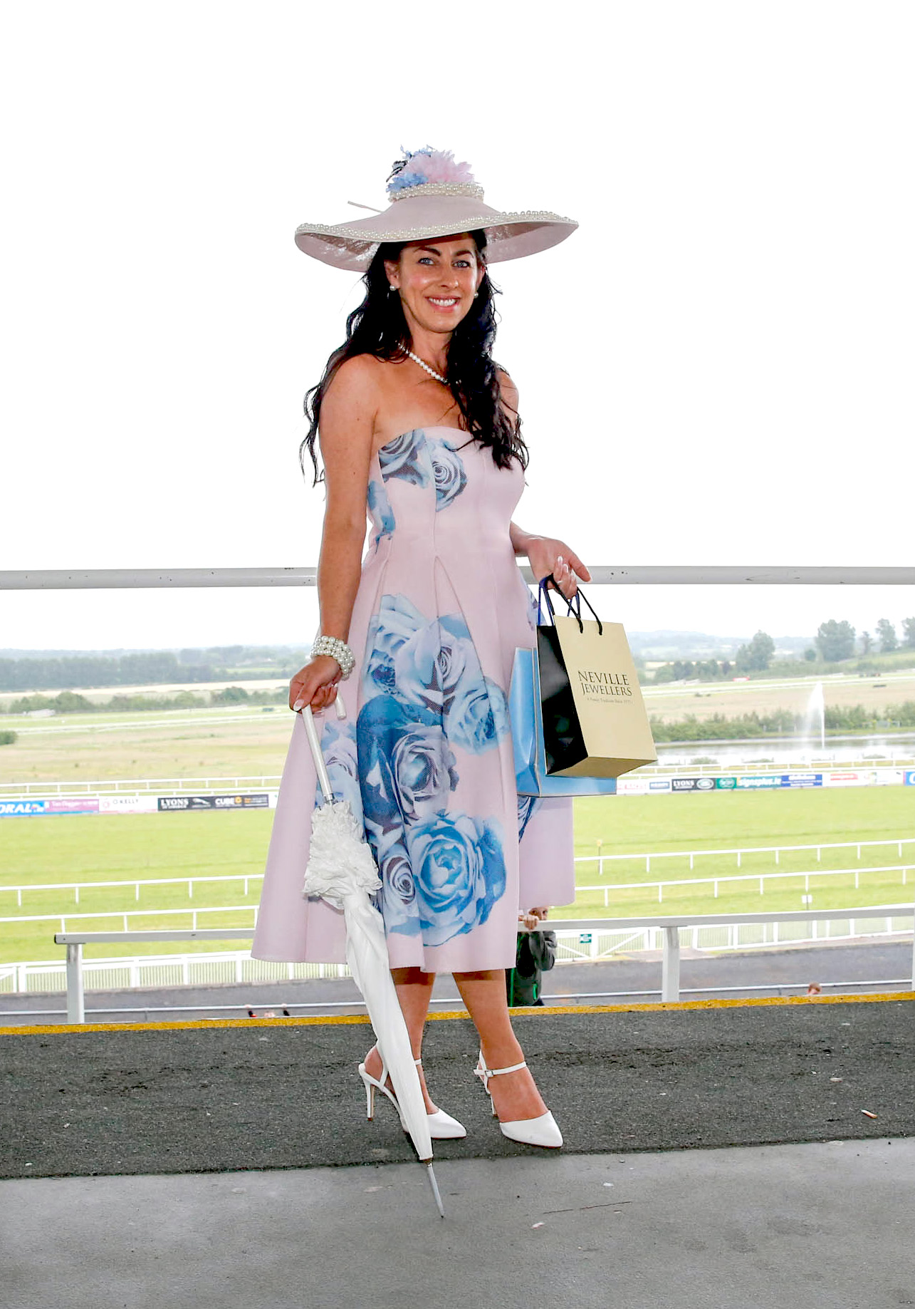 11-6-16 coral.ie Race Day at Limerick Racecourse.Most stylish competition' sponsored by Newbridge Silverware & Neville Jewellers, The Crescent Shopping Centre.Winner was Grace Flynn from Kilcornan.Picture: Keith Wiseman