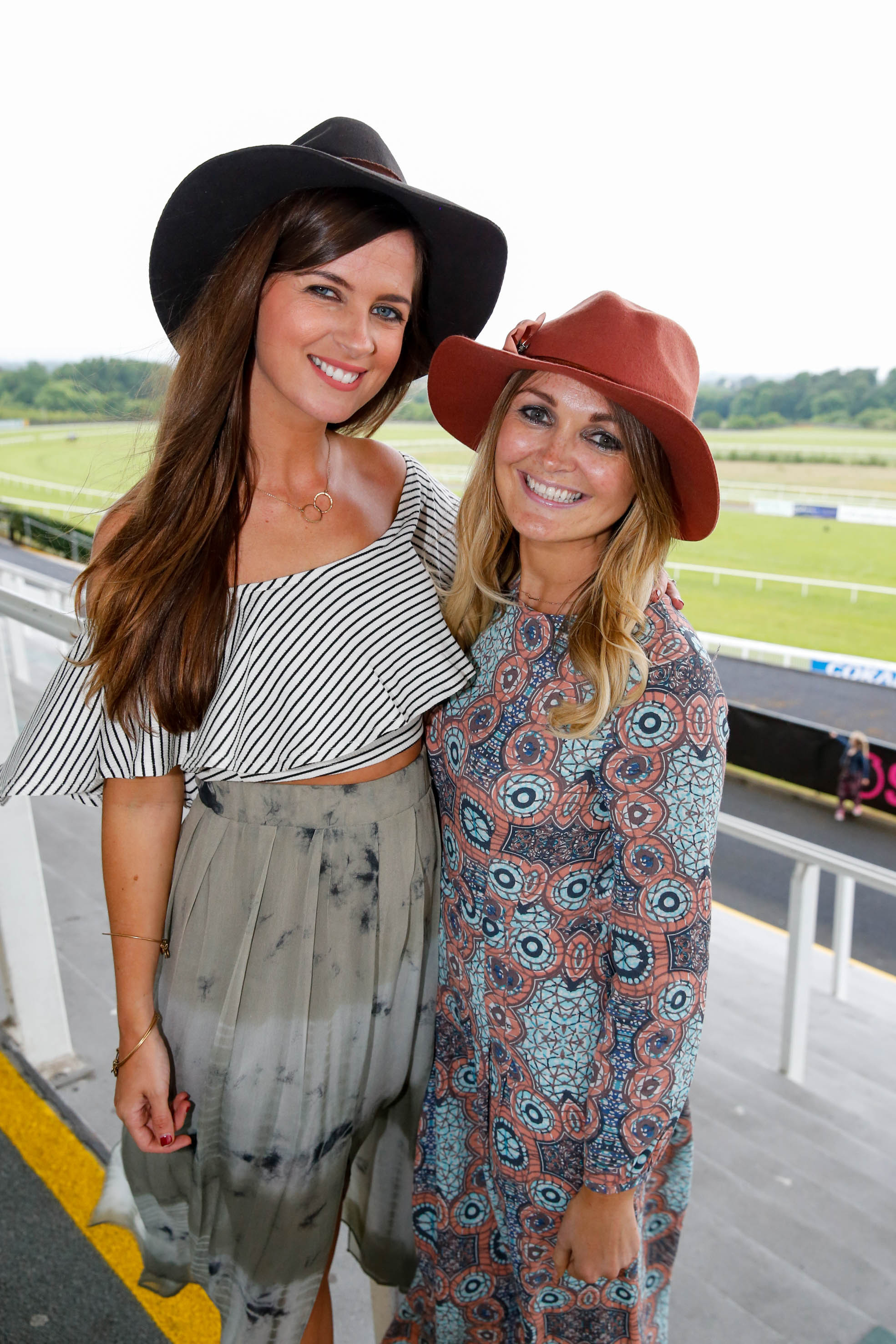 11-6-16 coral.ie Race Day at Limerick Racecourse.Louise James, Dublin and Breda Fitzgerald, Abbeyfeale.Picture: Keith Wiseman