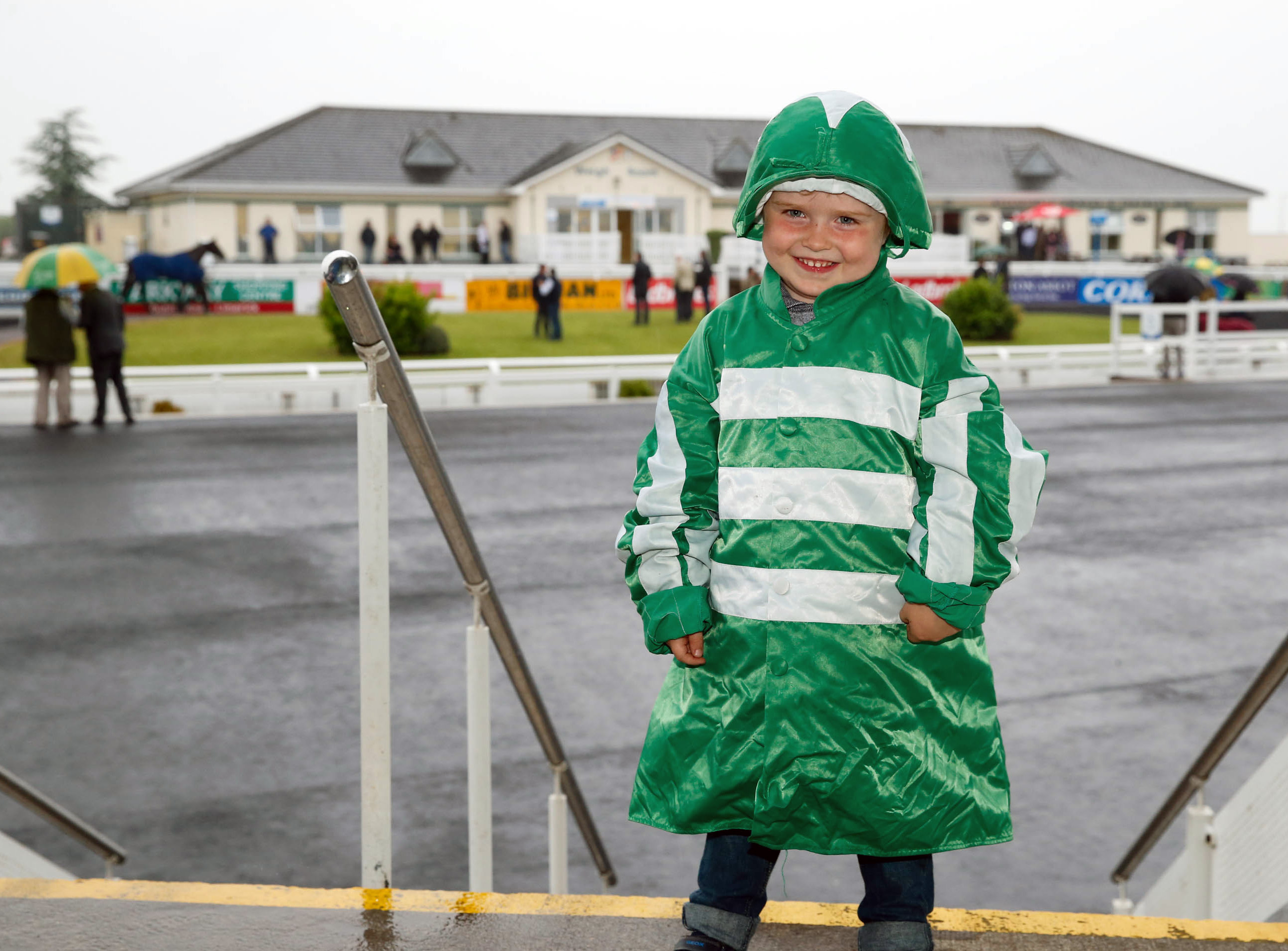 11-6-16 coral.ie Race Day at Limerick Racecourse.Jacj Costello aged 4 looking to a future as a jockey. Picture: Keith Wiseman