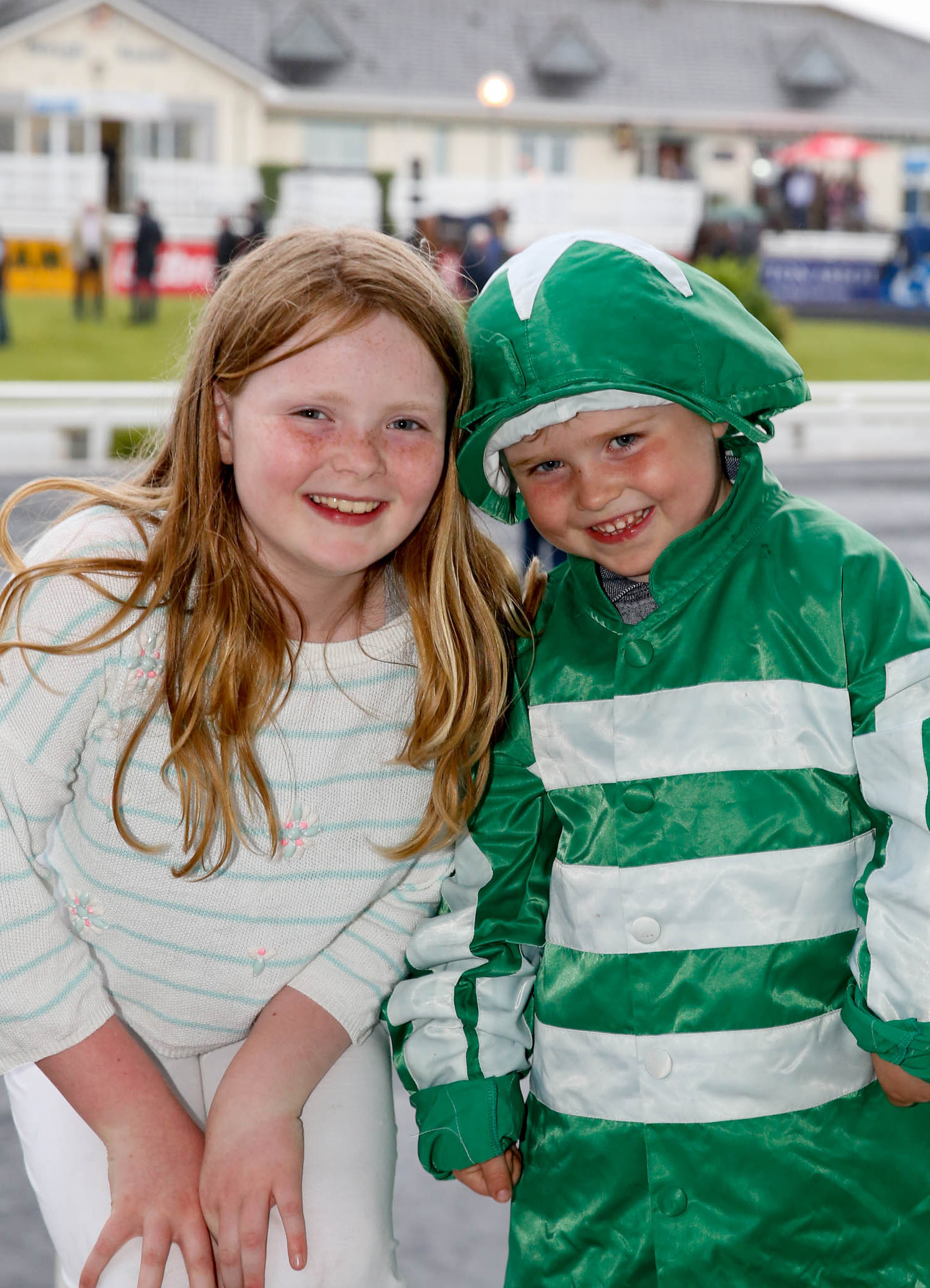 11-6-16 coral.ie Race Day at Limerick Racecourse.Grace and Jack Costello, Oranmore.Picture: Keith Wiseman
