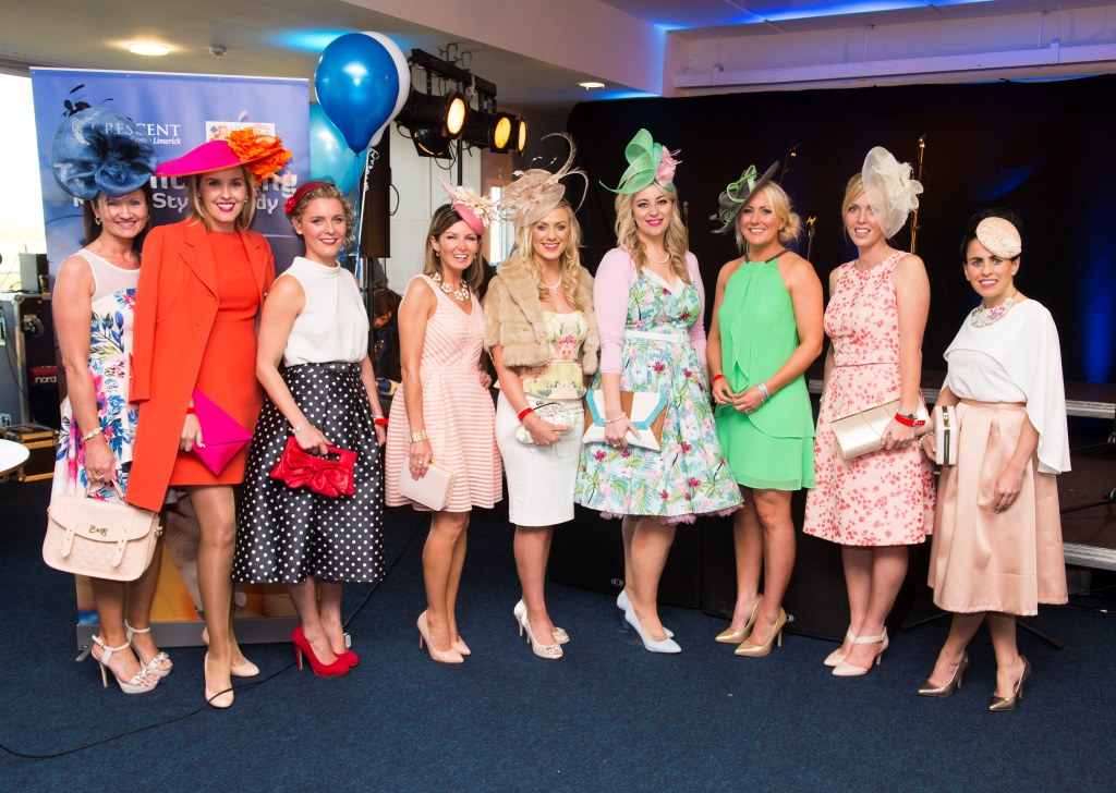 "06/06/2015Karen Wright from Kinsale was the worthy winner of the Crescent Shopping Centre Twilight Racing Most Stylish competition at Limerick Racecourse on Saturday 6th of June. Karen wowed the judges with a vintage chic orange Jacket and matching dress which was her mother's going away outfit after her wedding in 1973.  The outfit was teamed with a fuchsia and orange hat and clutch to compliment the look.  Karen received vouchers to the value of €300 for Primadonna and Neville Jewellers in the Crescent Shopping centre.  Many ladies pre-registered on www.limerickraces.ie for the competition and the standard of the style was exceptionally high with great summer colours and attention to details.Fiona Hayes, Fashion Assist, stated ""There was amazing style at the racecourse Saturday evening and most stylish lady Karen Wright stood out because her outfit looked current yet classic""This was the first of the twilight evening and a large crowd enjoyed exciting national hunt action followed by the Dublin Gospel Choir.  The next twilight evening takes place on Friday 19th of June with racing from 5.30pm, followed by Prison Love on stage after racing and the final evening is on the 23rd of July with entertainment provided by Mike Denver and his band.Pictured are the finalists in the Crescent Shopping Centre 'Most Stylish Lady' competition.Limerick Racecourse, Greenmount Park, Patrickswell, Co. Limerick.Picture: Diarmuid Greene/Fusionshooters"