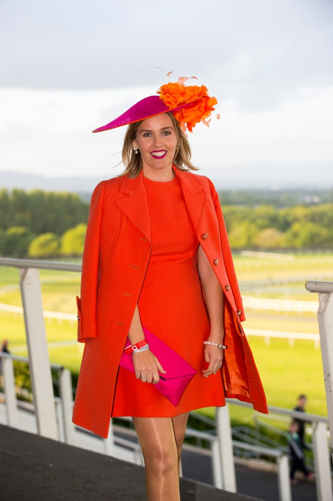 "06/06/2015Karen Wright from Kinsale was the worthy winner of the Crescent Shopping Centre Twilight Racing Most Stylish competition at Limerick Racecourse on Saturday 6th of June. Karen wowed the judges with a vintage chic orange Jacket and matching dress which was her mother's going away outfit after her wedding in 1973.  The outfit was teamed with a fuchsia and orange hat and clutch to compliment the look.  Karen received vouchers to the value of €300 for Primadonna and Neville Jewellers in the Crescent Shopping centre.  Many ladies pre-registered on www.limerickraces.ie for the competition and the standard of the style was exceptionally high with great summer colours and attention to details.Fiona Hayes, Fashion Assist, stated ""There was amazing style at the racecourse Saturday evening and most stylish lady Karen Wright stood out because her outfit looked current yet classic""This was the first of the twilight evening and a large crowd enjoyed exciting national hunt action followed by the Dublin Gospel Choir.  The next twilight evening takes place on Friday 19th of June with racing from 5.30pm, followed by Prison Love on stage after racing and the final evening is on the 23rd of July with entertainment provided by Mike Denver and his band.Pictured is Karen Wright, from Kinsale, Co. Cork, winner of Most Stylish Lady sponsored by Crescent Shopping Centre.Limerick Racecourse, Greenmount Park, Patrickswell, Co. Limerick.Picture: Diarmuid Greene/Fusionshooters"
