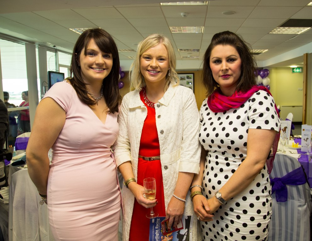 19.06.2015              Limerick Racecourse hosted the second evening of The Twilight Racing Festival on Friday.Attending the event were, Marina Fitzgerald, Sheena O'Sullivan and Denise O'Connell, all from Grant Thornton. Picture: Alan Place/FusionShooters.