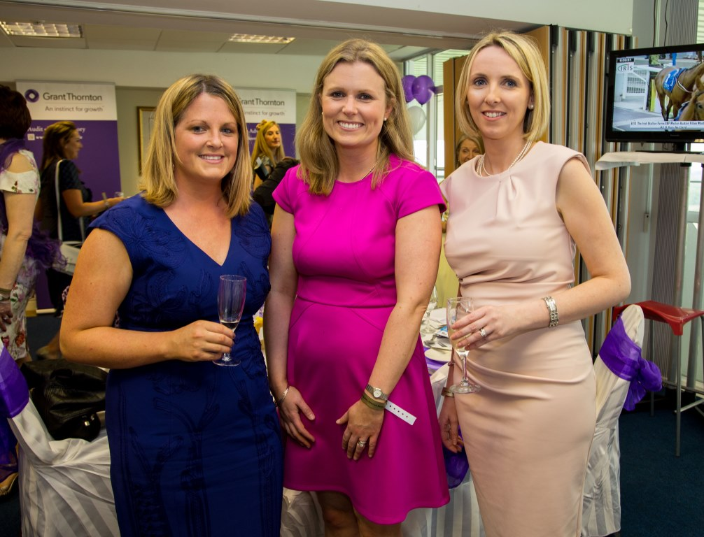 19.06.2015              Limerick Racecourse hosted the second evening of The Twilight Racing Festival on Friday.Attending the event were, Sinead Glynn, Kate McInerney and Marina Keane of Grant Thornton. Picture: Alan Place/FusionShooters.