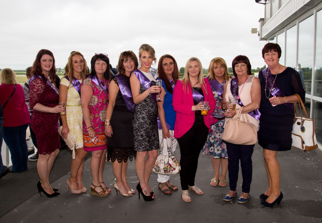 19.06.2015              Limerick Racecourse hosted the second evening of The Twilight Racing Festival on Friday.Attending the event were, were the Tracy Lilly(5th from left) Hen Party . Picture: Alan Place/FusionShooters.