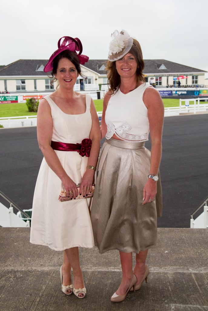 19.06.2015              Limerick Racecourse hosted the second evening of The Twilight Racing Festival on Friday.Attending the event were, Sandra Shortfall and Laura Barrett. Picture: Alan Place/FusionShooters.