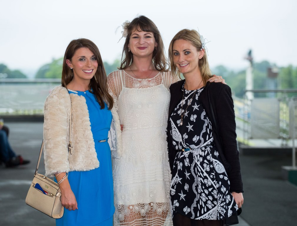 19.06.2015              Limerick Racecourse hosted the second evening of The Twilight Racing Festival on Friday.Attending the event were, Gillian Ryan, Eva Drew and Jennifer O'Neill. Picture: Alan Place/FusionShooters.